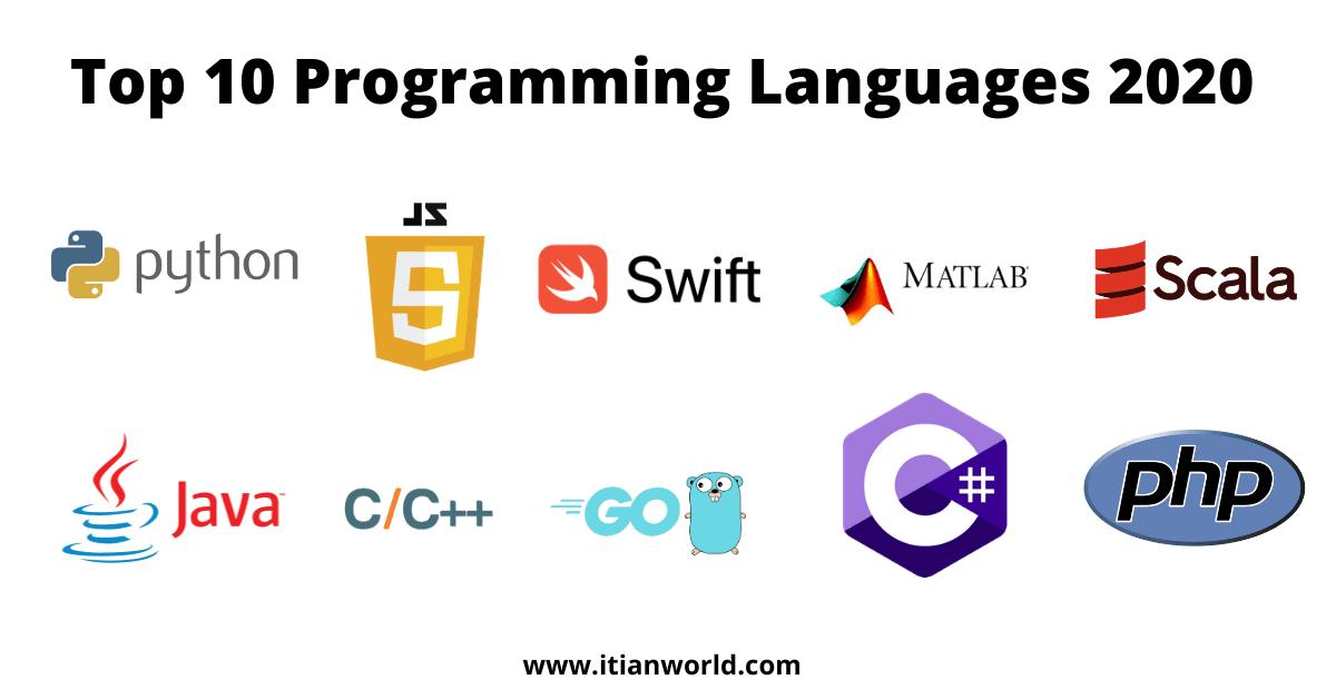 Top 10 programming languages 2020, Top 10 Most Popular Programming Languages